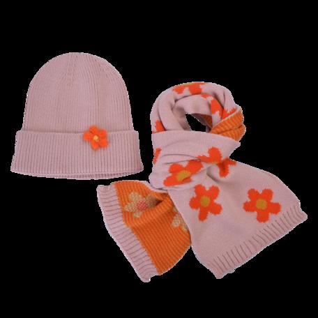 Kinder sjaal / muts  Roze   MLLLSH0002P   Clayre & Eef