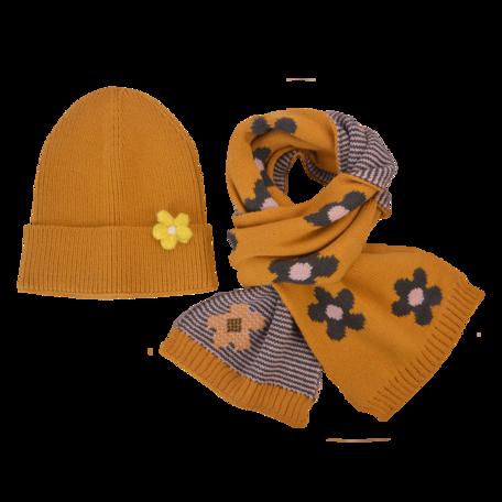 Kinder sjaal / muts  Geel   MLLLSH0002Y   Clayre & Eef