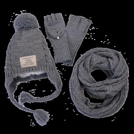 Kinder sjaal / muts / handschoenen  Grijs   MLLLSHG0001G   Clayre & Eef