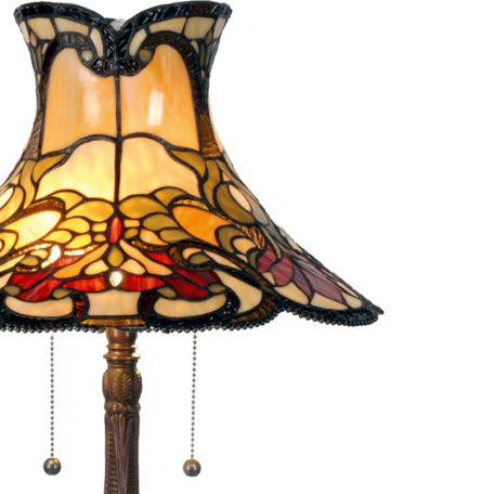 Tafellamp Tiffany ø 51*66 cm E27/max 2*60W Multi | 5LL-5533 | Clayre & Eef