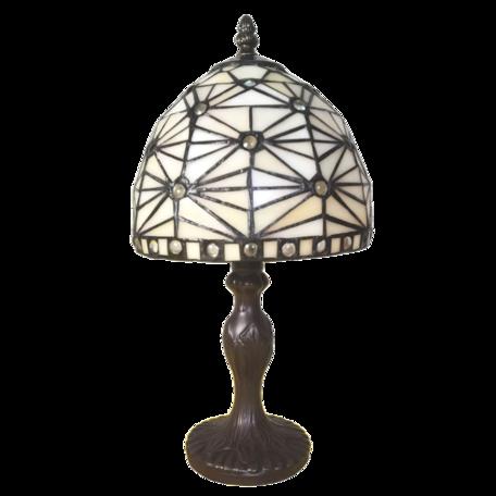 Tafellamp Tiffany ø 18*33 cm E14/max 1*25W Beige | 5LL-6105 | Clayre & Eef