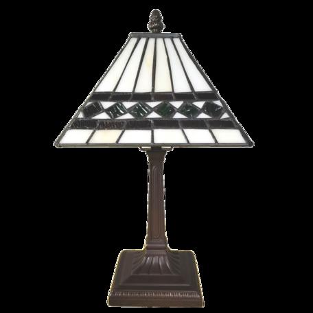 Tafellamp Tiffany 20*20*34 cm E14/max 1*25W Beige | 5LL-6107 | Clayre & Eef