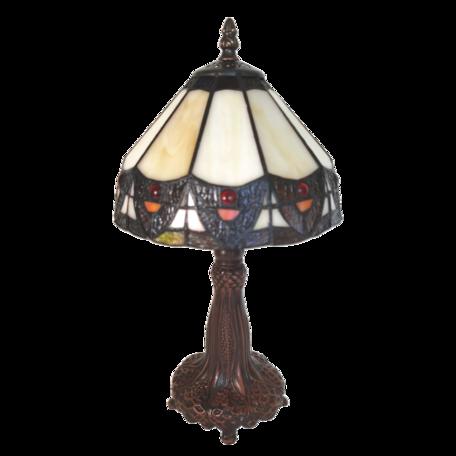 Tafellamp Tiffany ø 20*34 cm E14/max 1*25W Beige | 5LL-6108 | Clayre & Eef