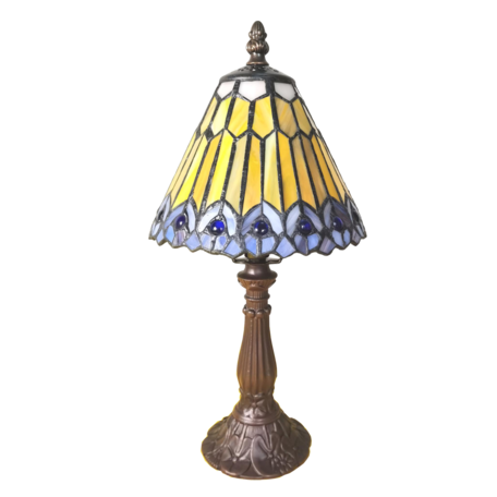 Tafellamp Tiffany ø 20*34 cm E14/max 1*25W Bruin | 5LL-6110 | Clayre & Eef