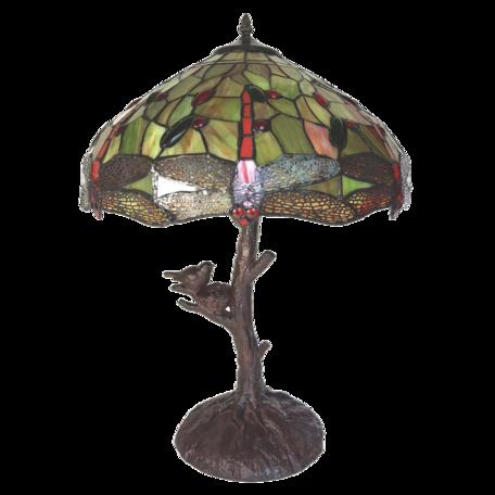 Tafellamp Tiffany ø 41*57 cm E27/max 2*60W Geel | 5LL-6111 | Clayre & Eef