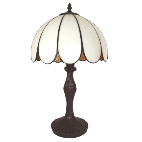 Tafellamp Tiffany ø 31*43 cm E27/max 1*40W Wit | 5LL-6147 | Clayre & Eef