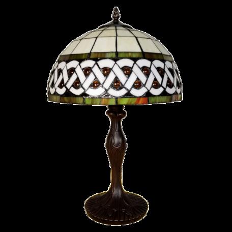 Tafellamp Tiffany ø 31*43 cm E27/max 1*40W Wit | 5LL-6153 | Clayre & Eef