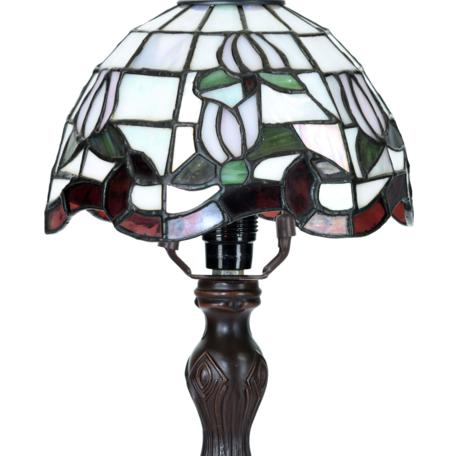 Tafellamp Tiffany ø 18*32 cm E14/max 1*25W Wit | 5LL-6180 | Clayre & Eef