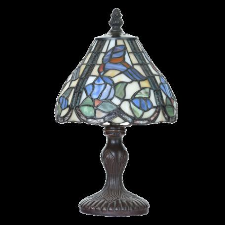 Tafellamp Tiffany ø 18*32 cm E14/max 1*25W Blauw | 5LL-6181 | Clayre & Eef