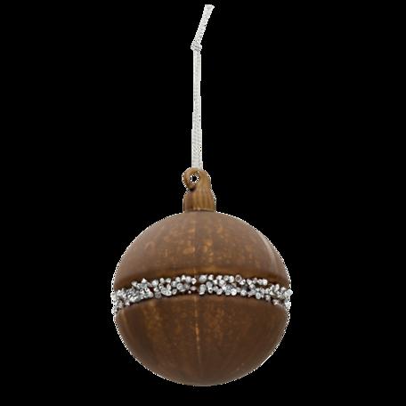 Kerstbal (set van 4) ø 8 cm (set 4) Bruin | 6GL3271 | Clayre & Eef