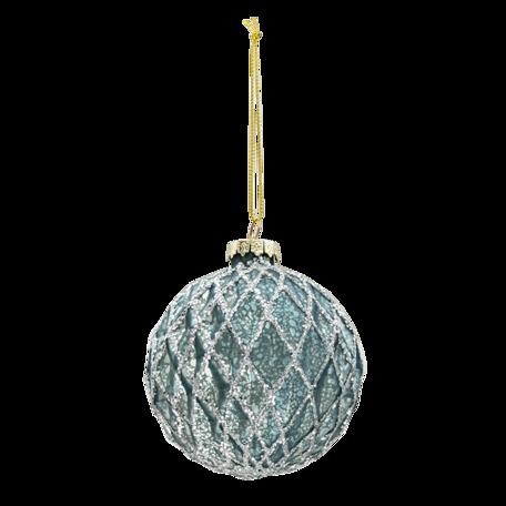 Kerstbal (set van 4) ø 8 cm (set 4) Blauw | 6GL3273 | Clayre & Eef