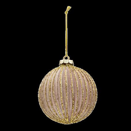 Kerstbal (set van 4) ø 10 cm (set 4) Goudkleurig | 6GL3277 | Clayre & Eef