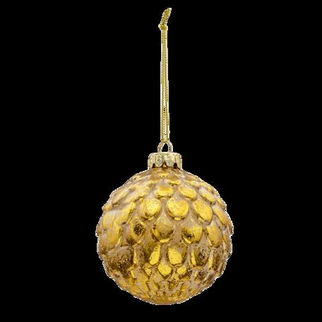 Kerstbal (set van 4) ø 8 cm (set 4) Goudkleurig | 6GL3283 | Clayre & Eef