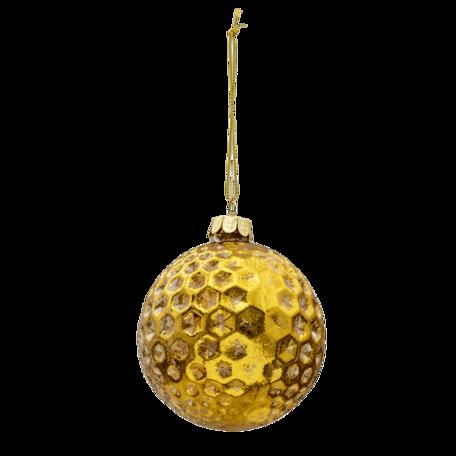 Kerstbal (set van 4) ø 8 cm (set 4) Goudkleurig | 6GL3284 | Clayre & Eef