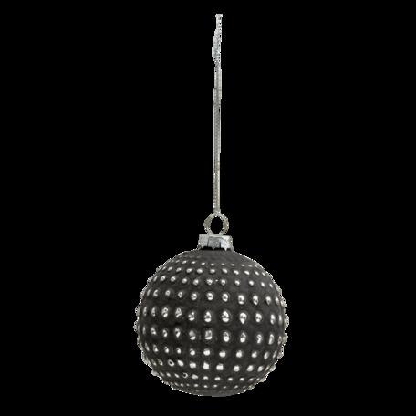 Kerstbal (set van 4) ø 8 cm (set 4) Grijs | 6GL3290 | Clayre & Eef