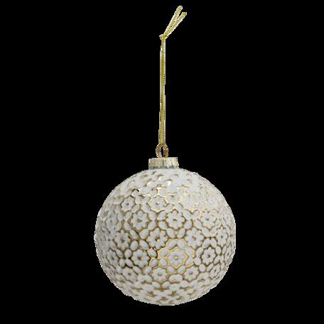 Kerstbal (set van 4) ø 10 cm (set 4) Goudkleurig | 6GL3291 | Clayre & Eef