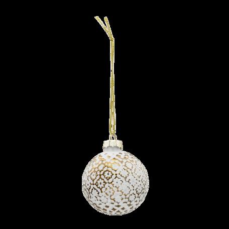 Kerstbal (set van 4) ø 6 cm (set 4) Goudkleurig | 6GL3292 | Clayre & Eef