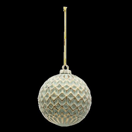 Kerstbal (set van 4) ø 10 cm (set 4) Goudkleurig | 6GL3294 | Clayre & Eef