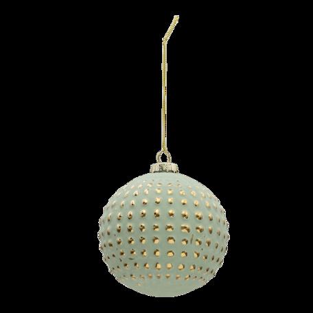 Kerstbal (set van 4) ø 10 cm (set 4) Turquoise | 6GL3295 | Clayre & Eef