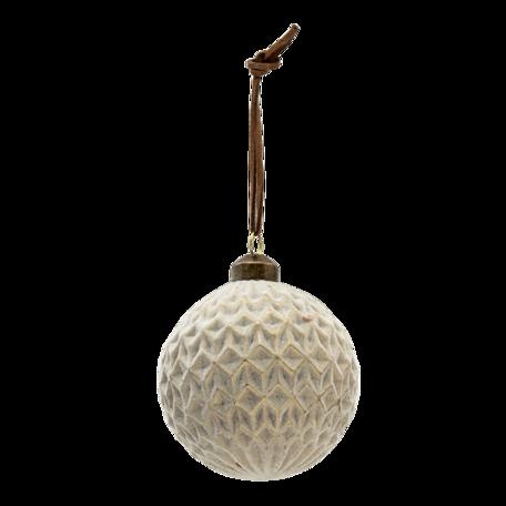 Kerstbal (set van 4) ø 8 cm (set 4) Grijs | 6GL3298 | Clayre & Eef