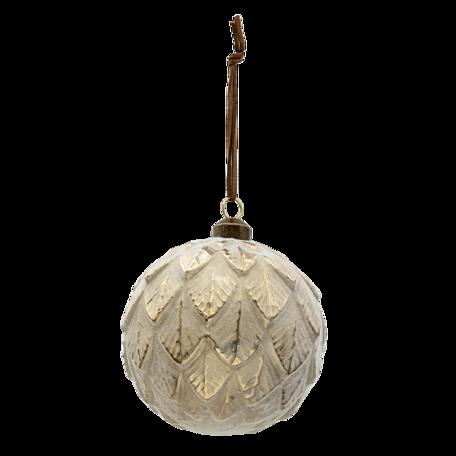 Kerstbal (set van 4) ø 10 cm Grijs | 6GL3300 | Clayre & Eef