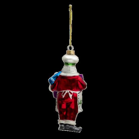 Kerstbal kerstman 8*6*17 cm Multi | 6GL3325 | Clayre & Eef