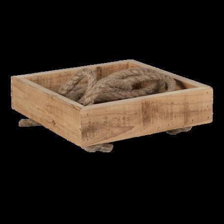Hangend rek hout 25*25*6/72 cm Bruin | 6H2049 | Clayre & Eef