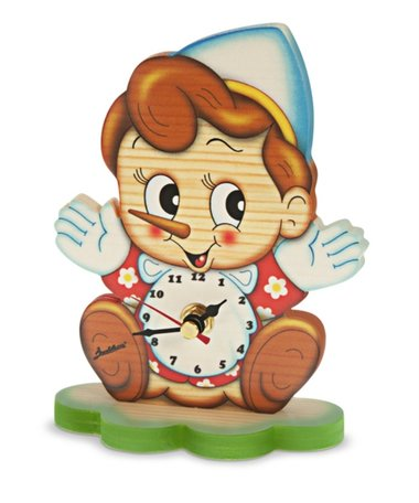 Tafel klok Pinokkio hout | Bartolucci