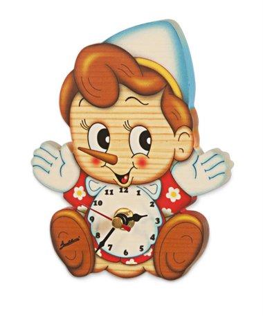 Muurklok Pinokkio 14,5 x 9,5 cm | Bartolucci