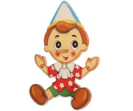 Kapstok hout Pinokkio 2 knoppen    Bartolucci