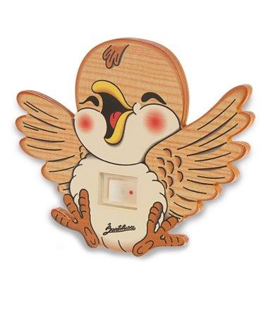 Nachtlamp vrolijke vogel   Bartolucci   Hout
