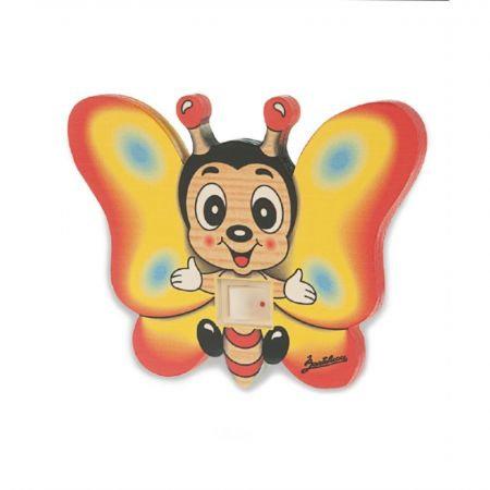 Nachtlamp hout vlinder   Bartolucci