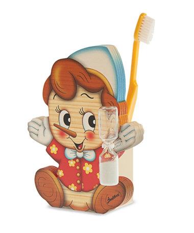 Tandenborstelhouder pinokkio zandloper | Bartolucci | Hout