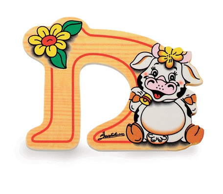 Alfabet letter hout klein D | Bartolucci