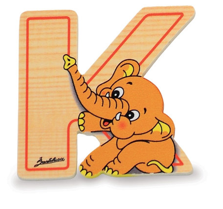 Alfabet letter hout groot K   Bartolucci
