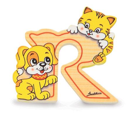 Alfabet letter hout groot R   Bartolucci
