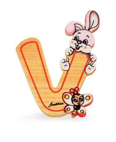 Alfabet letter hout groot V   Bartolucci