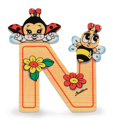 Alfabet letter hout klein N | Bartolucci