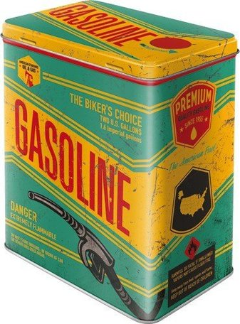 Gasoline metalen 3d blik L | Nostalgic Art