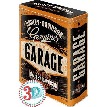 Harley-Davidson garage  3d  blik XL | Nostalgic Art