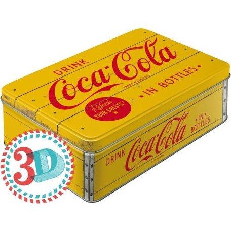 Coca Cola geel metalen 3d blik | Nostalgic Art