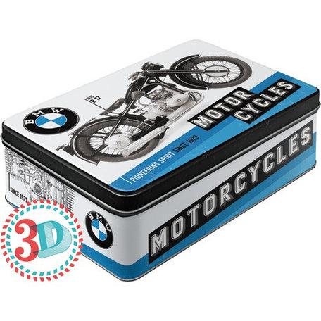 BMW motorcycles metalen 3d blik | Nostalgic Art