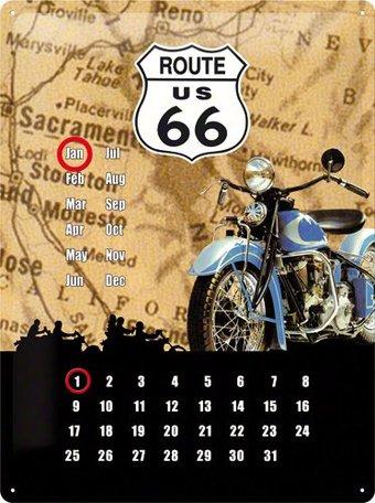 Kalender metaal route 66   Nostalgic Art