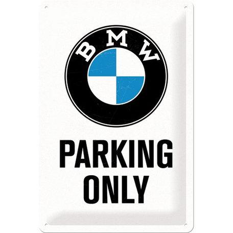 Metaalbord BMW - Parking only | Nostalgic Art