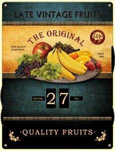 Kalender The original- Late vintage fruit   Nostalgic Art