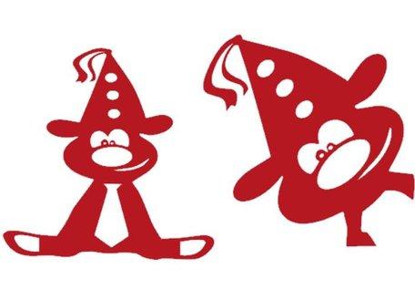 Set raamsticker herbruikbaar 2 x feestbeest Carnaval | Rosami