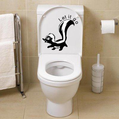Sticker Stinkdier Let it go toilet   Rosami