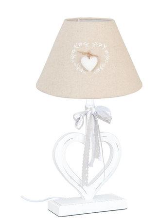 Lampenvoet met kap hart | 6LMP429 | Clayre & Eef