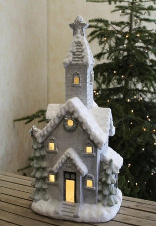 Kerktoren met led verlichting 77 x 36 cm | 603822 | Goldbach