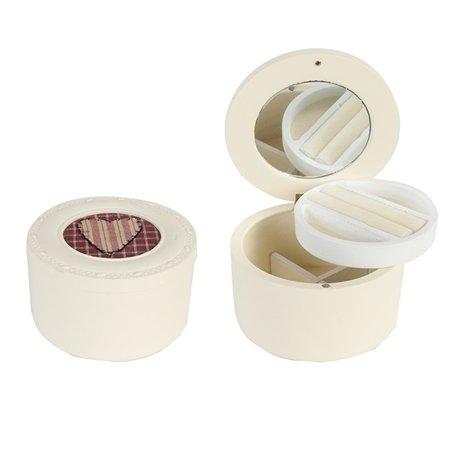 Juwelen doosje met spiegel hout | Clayre & Eef